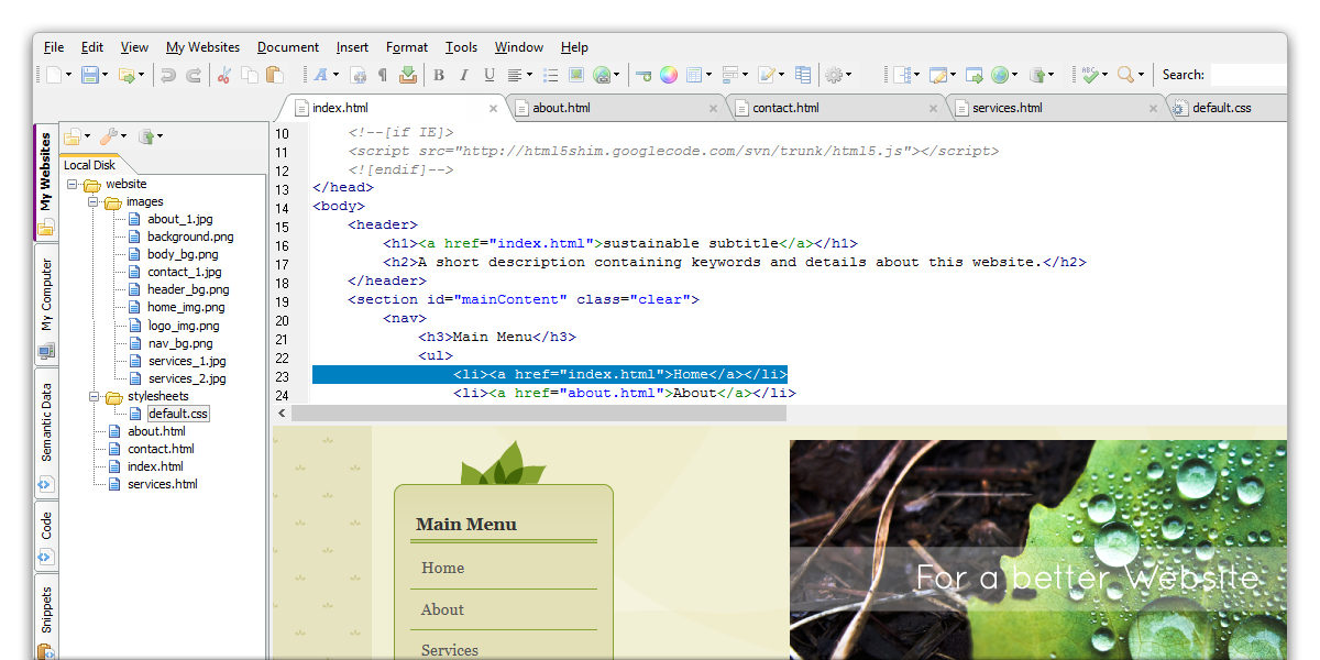 Download The HTML Editor for free