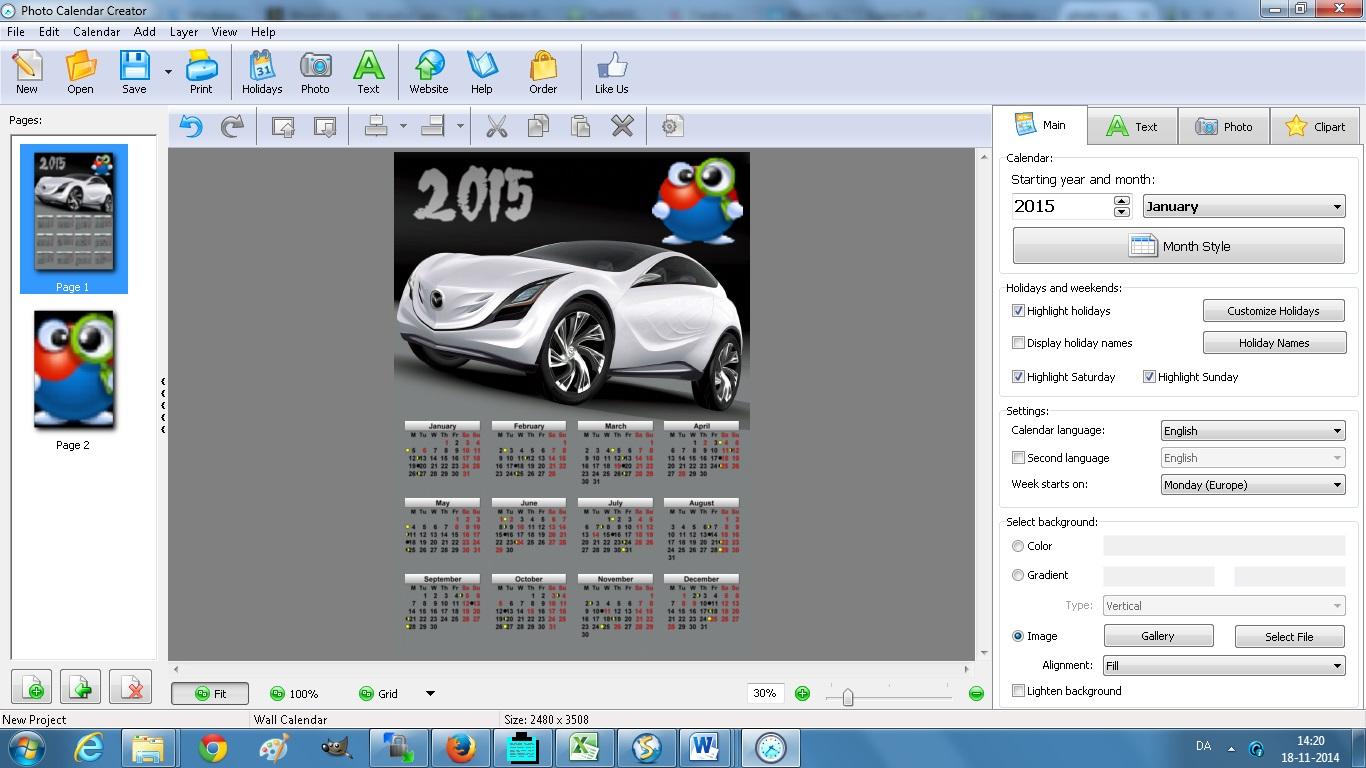 download photo calendar creator 8 0 for free