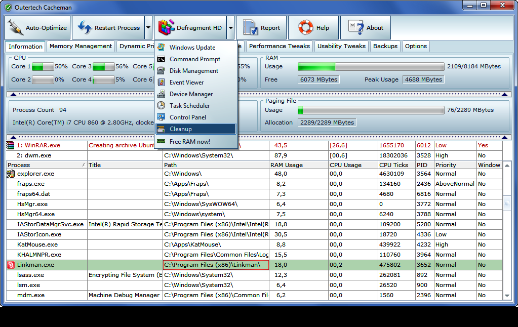 Ram faster software download.
