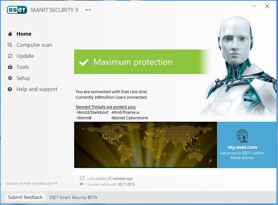 Eset nod32 antivirus 6. 0. 316. 0   software downloads   techworld.