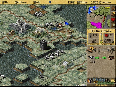 Lords of the realm 2 download (1996 strategy game).