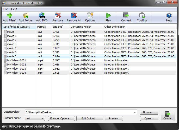 prism video file converter free trial download