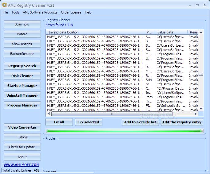Download aml free registry cleaner 4. 25 – windows.